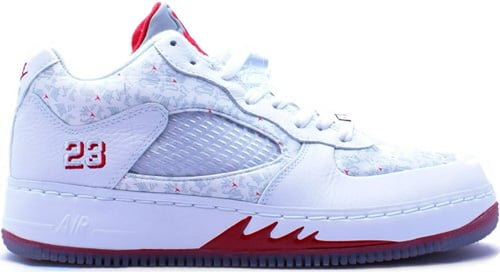 Air Jordan Fusion 5 (AJF 5) Low White / White – Varsity Red