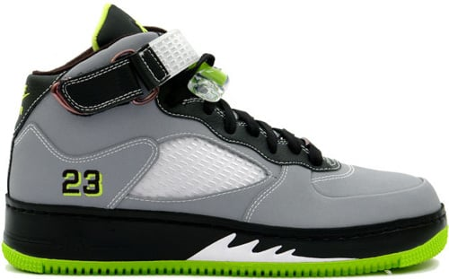 Air Jordan Fusion 5 (AJF 5) Stealth / White - Black - Bright Cactus