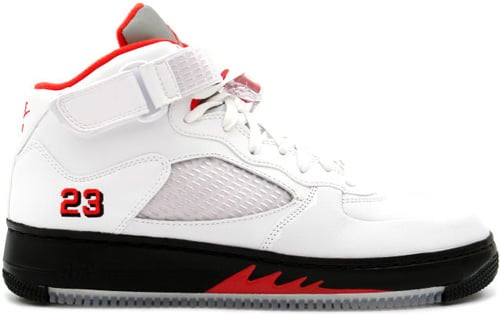 Air Jordan Fusion 5 (AJF 5) White / Varsity Red - Black