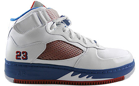 Air Jordan Fusion 5 (AJF 5) White / Varsity Red - Blue Ribbon - New Blue
