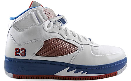 meet 71c6c d8e7a Air Jordan Fusion 5 (AJF 5) White / Varsity Red - Blue ...