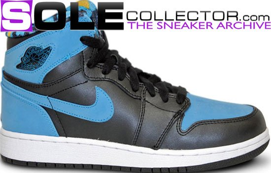 Air Jordan 1 (I) Black Blue Vivid Grade School