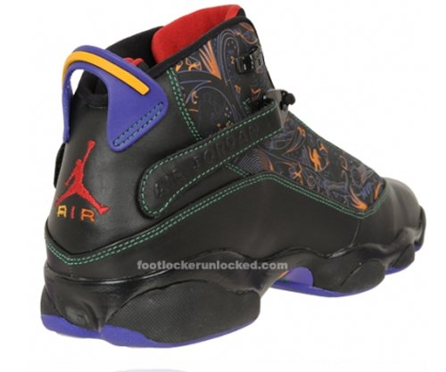 Air Jordan Six Rings Championship Pack - Black / Varsity Red - Classic Green - Varsity Purple