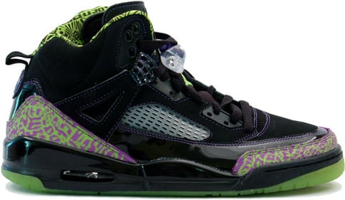 Air Jordan Spizike Black / Citron - Pure Purple - White
