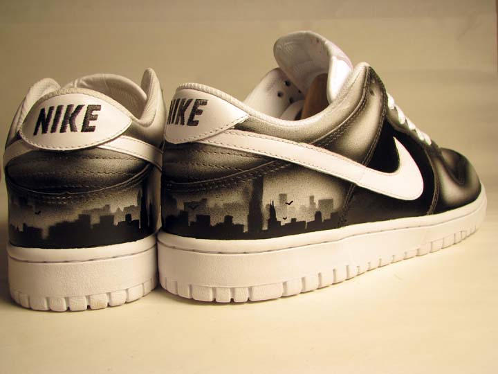 Nike Custom Dunk Sneakers with Chicago's Skyline