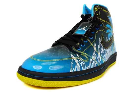 Air Jordan 1 (I) High Retro Doernbecher Black / Vivid Blue - White - Varsity Maize