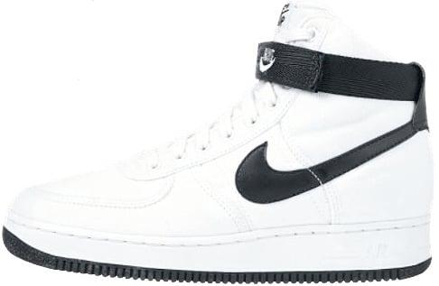 nike air force one high black white