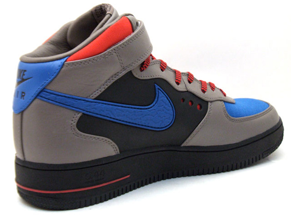 991db179be45 Nike Air Force 1 Mid Supreme Grey Blue Black Red 50%OFF - s132716079 ...