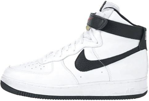 Nike Air Force 1 (Ones) 1995 High White / Black - Varsity Red