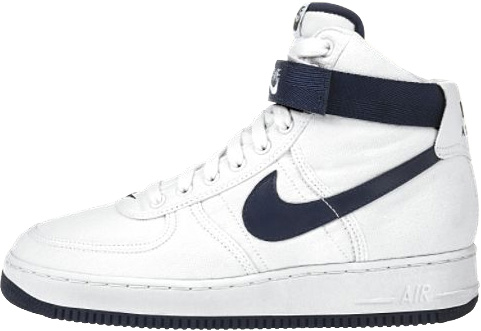 Nike Air Force 1 (Ones) 1996 High Canvas SC White / Midnight Navy