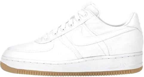 best service b9c1a 10d63 Nike Air Force 1 (Ones) 1996 Low Canvas White   White - Gum