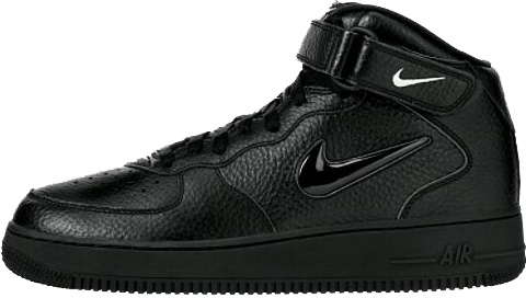 Nike Air Force 1 (Ones) 1996 Mid SC Black / Black - Silver