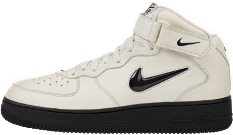 new styles 4db3c ddc20 Nike Air Force 1 (Ones) 1996 Mid SC Ivory   Black