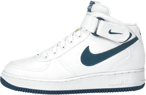Nike Air Force 1 (Ones) 1996 Mid Canvas White / Dark Spruce