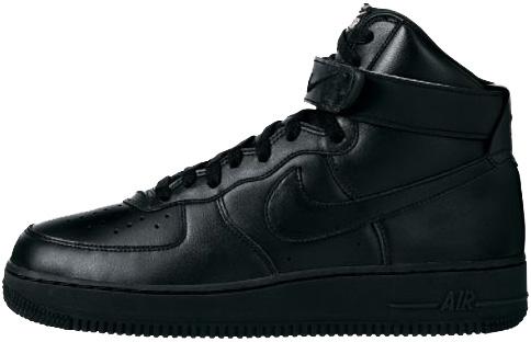 Nike Air Force 1 (Ones) 1997 High Black / Black - Metallic Silver