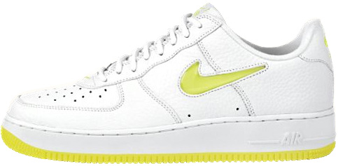 finest selection bc422 df074 Nike Air Force 1 (Ones) 1997 Low White   Lemon Twist