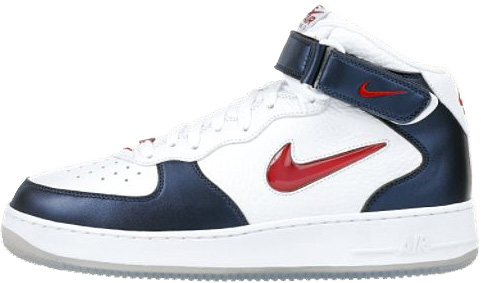 Nike Air Force 1 (Ones) 1997 Mid CL Independence Day White / Varsity Red - Midnight Navy