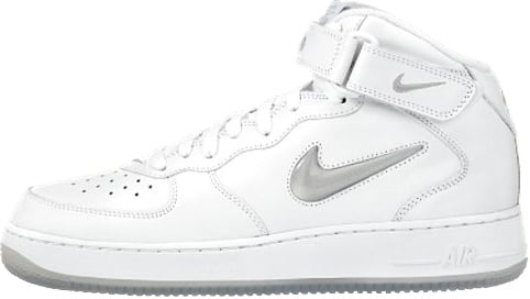 Nike Air Force 1 (Ones) 1997 Mid CL SC White / Metallic Silver