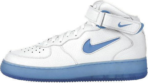 new arrival 538e7 d5c49 ... Nike Air Force 1 97 Blue shades.. Further accentuated ...