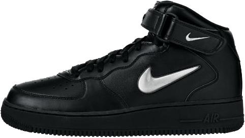 Nike Air Force 1 (Ones) 1997 Mid SC Black / Metallic Silver - Black