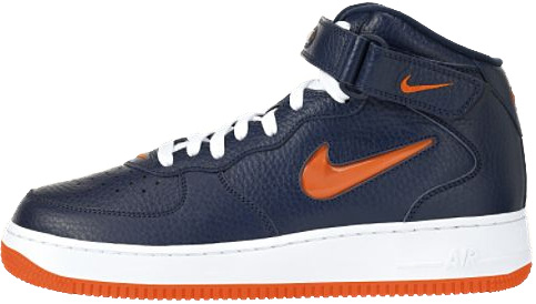 Nike Air Force 1 (Ones) 1997 Mid SC Midnight Navy / Safety Orange