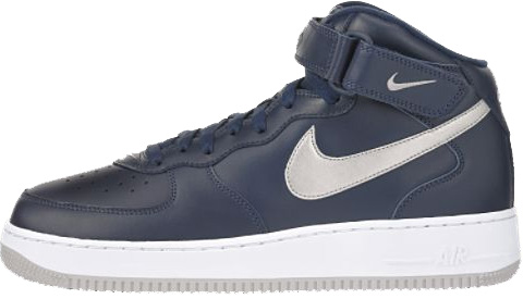 Nike Air Force 1 (Ones) 1997 Mid SC Midnight Navy / Silver