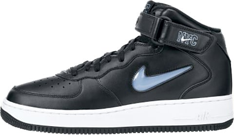 Nike Air Force 1 Ones 1997 Mid Sc Nyc Black University Blue