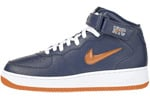 Nike Air Force 1 (Ones) 1997 Mid SC NYC Midnight Navy / Safety Orange - White