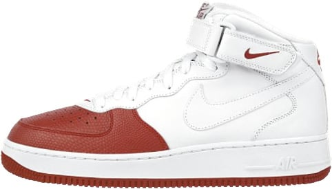 white and red air force ones