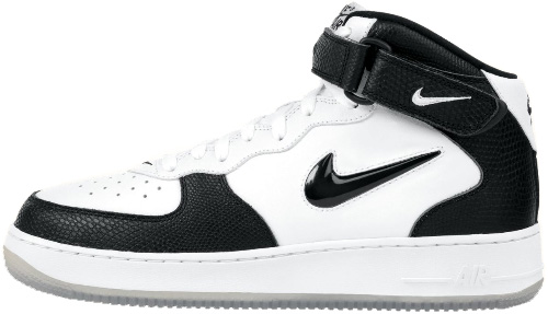 Nike Air Force 1 (Ones) 1997 Mid SC White / Black - Black