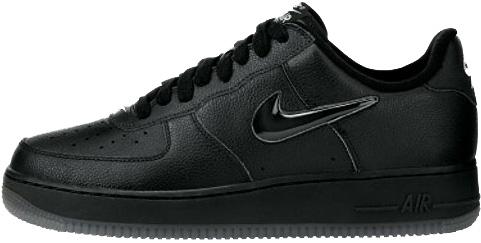 Nike Air Force 1 (Ones) 1998 Low Black / Black - Metallic Silver