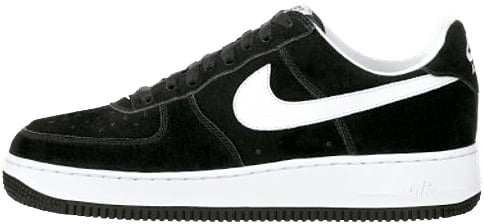Nike Air Force 1 Low Black And White Suede