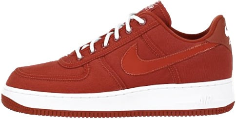 Nike Air Force 1 (Ones) 1998 Low Canvas Varsity Red / White