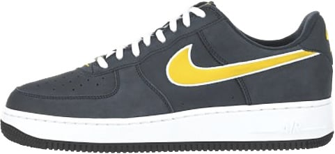 Nike Air Force 1 (Ones) 1998 Low Michigan Obsidian / Varsity Maize - White