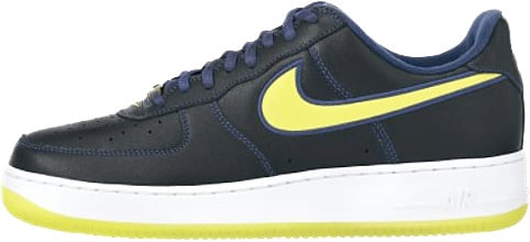 Nike Air Force 1 (Ones) 1998 Low Midnight Navy / Lemon Twist - White