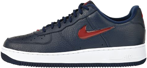 Nike Air Force 1 (Ones) 1998 Low Midnight Navy / Varsity Red - White