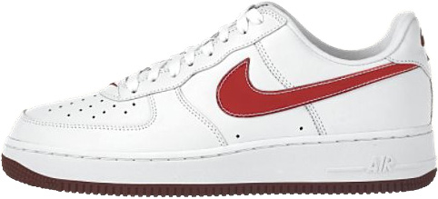 Nike Air Force 1 (Ones) 1998 Low SJ White / Team Red