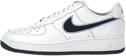 Nike Air Force 1 (Ones) 1998 Low White / Black - Aluminum