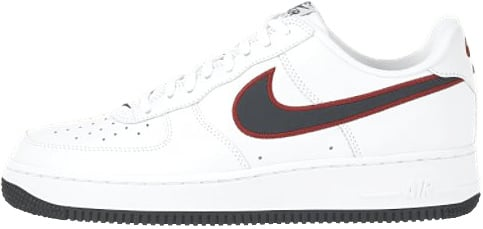 Nike Air Force 1 (Ones) 1998 Low White / Midnight Navy - Varsity Red