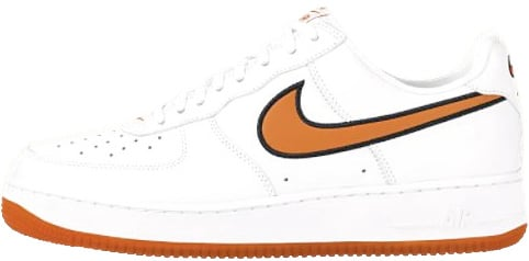 Nike Air Force 1 (Ones) 1998 Low White / Orange Blaze - Obsidian