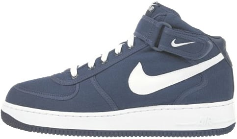 Nike Air Force 1 (Ones) 1998 Mid Canvas Midnight Navy / White
