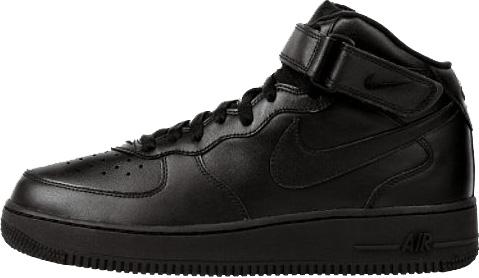 Nike Air Force 1 (Ones) 1998 Mid SC Black / Black