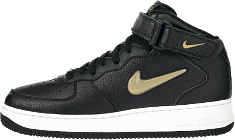 nike air force 1 ones 1998 mid sc black metallic gold