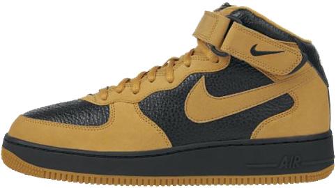 Nike Air Force 1 (Ones) 1998 Mid SC Chutney / Black - Metallic Gold