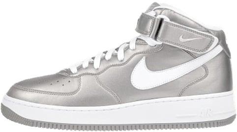 Nike Air Force 1 (Ones) 1998 Mid SC Metallic Silver / White