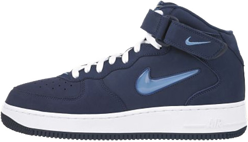 Nike Air Force 1 (Ones) 1998 Mid SC Midnight Navy / University Blue - White