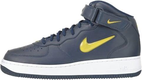 Nike Air Force 1 (Ones) 1998 Mid SC Michigan Midnight Navy / Varsity Maize - True White
