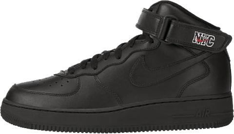 Nike Air Force 1 (Ones) 1998 Mid SC NYC Black / Black - Varsity Red - White