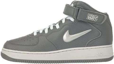 Nike Air Force 1 (Ones) 1998 Mid SC NYC Cool Grey / Metallic Silver - Light Zen Grey - White