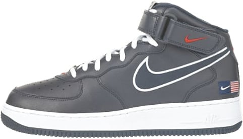 Nike Air Force 1 (Ones) 1998 Mid SC USA Obsidian / Obsidian - White - Varsity Red